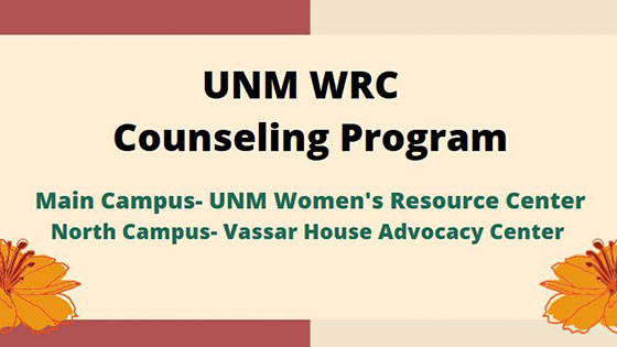 Photo: UNM Women's Resource Center Counseling Program